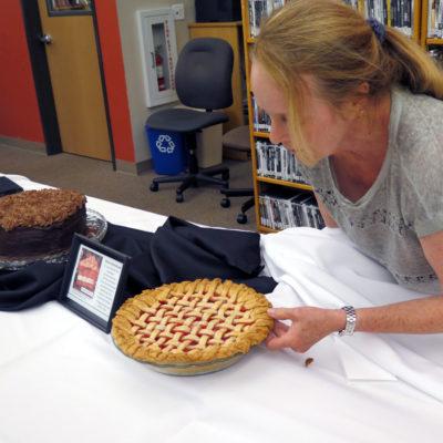 Martha displays Craig's strawberry rhubarb pie