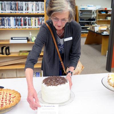 Sandy delivers her Tiramisu Cake