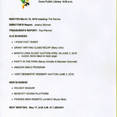 Agenda April 19, 2016 page 1