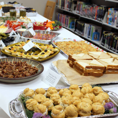 Buffet brought to you by Friends of the Library!