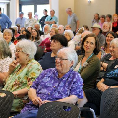 Audience enjoying Jim Lynch's author talk.